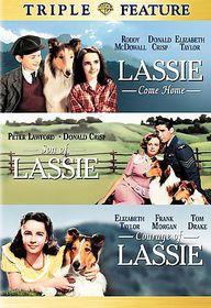 Lassie Come Home/Son of Lassie/Courage of Lassie - (Region 1 Import DVD)