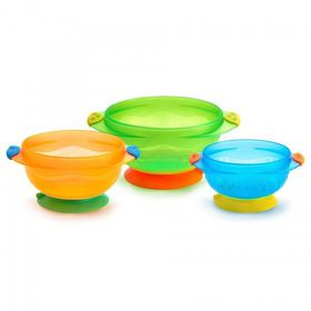 Munchkin - Stay-Put Suction Bowls (3 Pack)