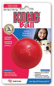 Kong -  Dog Toy Interactive Ball - Medium-Large - Red