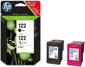 HP 122 Black & Tri-Colour Ink Cartridges Combo Pack