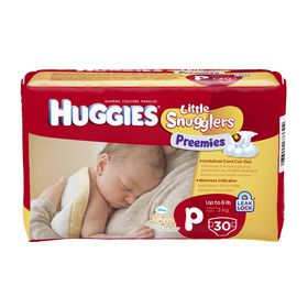 Huggies - Preemies - Size P (Premature) x 30 Nappies - 3kg