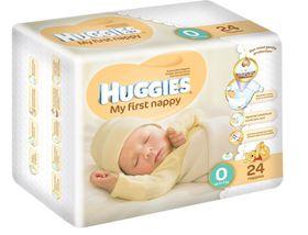 Huggies - Preemies - Size P (Premature) x 30 Nappies - 3kg