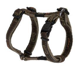 Rogz - Fancy Dress 11mm Dog H-Harness - Bronze Bone