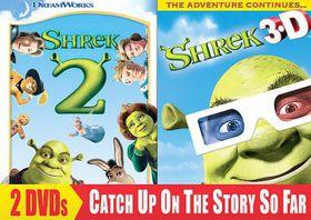 Shrek 2/Shrek 3d Party in the Swamp - (Region 1 Import DVD)