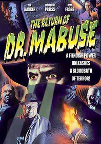 Return of Doctor Mabuse - (Region 1 Import DVD)