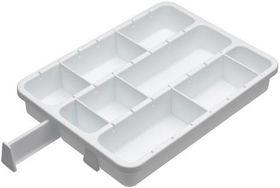 Progressive Kitchenware - Customizable 6 Divider Drawer Organizer - 40 x 30 x 7cm - White