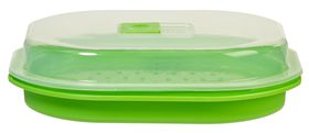 Progressive Kitchenware - Microwave Fish and Vegetable Steamer - 28 x 24 x 8cm - Transparent
