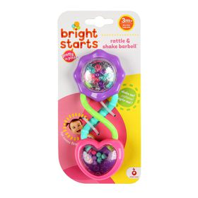 Kids II -  Barbell Rattle - Pink + Purple