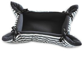 Wagworld - Medium Cupcake Dog Bed - Grey Stripe