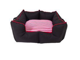 Wagworld - Medium K9 Castle Dog Bed - Black & Red