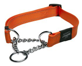 Rogz - Utility 25mm Half-Check Collar - Orange