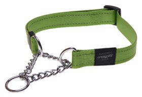 Rogz - Utility 20mm Half-Check Collar - Lime