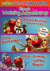 Elmo's Learning Adventures Triple Fea - (Region 1 Import DVD)