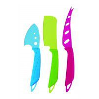 Anzo - Cheese Knife Set With Colour Blades - 3 Piece