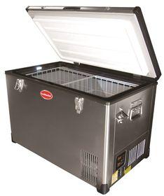 SnoMaster - 60 Litre Portable Fridge & Freezer - Stainless Steel