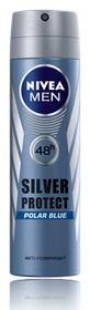 Nivea Silver Protect Polar Blue Deodorant Aerosol - 150ml