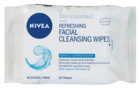 Nivea Gentle Facial Cleansing Wipes - 25's