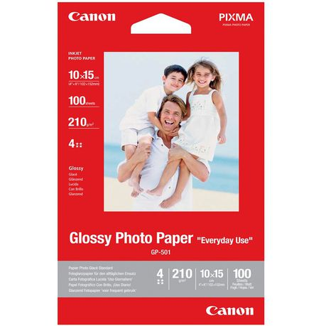Canon Gp 501 Everyday Use 4x6 Glossy Photo Paper 100 Sheets Buy