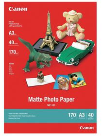 Canon MP-101 Matte A3 Photo Paper (40 Sheets)