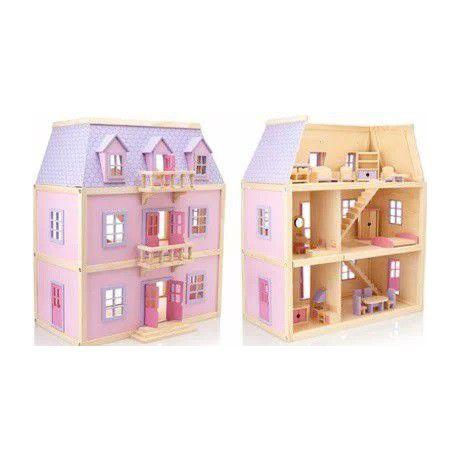 Melissa Doug Multi Level Wooden Dollhouse Buy Online In South