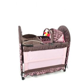 Chelino - 6-in-1 Cot - Brown & Pink