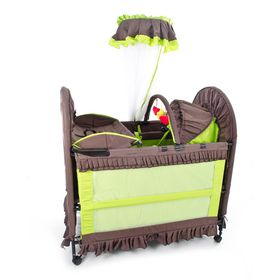 Chelino - 6-in-1 Cot - Brown & Green