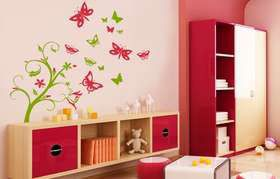Fantastick - Floral Butterfly Tree Vinyl Wall Stickers