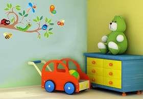 Fantastick - Cute Bugs Vinyl Wall Stickers