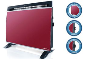 Morphy Richards - Floor or Wall Mount Glass Heater - Red