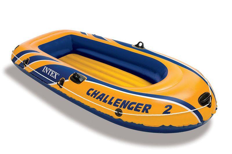 Intex - Challenger 2 Boat set - 2 Person Boat Set - Yellow