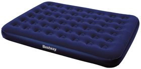 Bestway - Flocked Queen Airbed - Blue