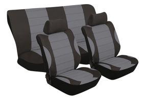 Stingray - Grand Prix 6 Piece Seat Cover Set- Grey