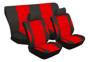 Stingray - Grand Prix Polyester 6 Piece Seat Cover Set- Red
