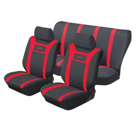Stingray - Sport Polyester 6 Piece Car Seat Cover Set - Red