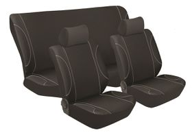 Stingray - Monaco Car Seat Cover Set - Black & Grey