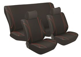 Stingray - Monaco 6 Piece Seat Cover Set - Black & Red