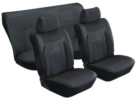 Stingray - Majestic Quilted PU 8 Piece Car Seat Cover Set