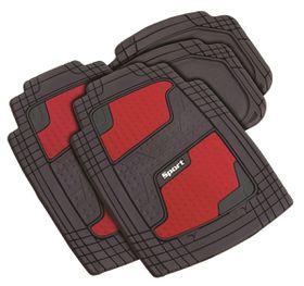 Stingray - Quadrimat 4 Piece Car Mat Set - Red