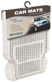 Stingray - Techno Clear PVC Car Mats - 4 Piece Set Clear