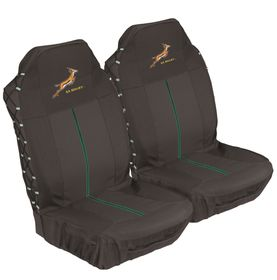 Stingray - Springbok Front Seat Cover Set - Black
