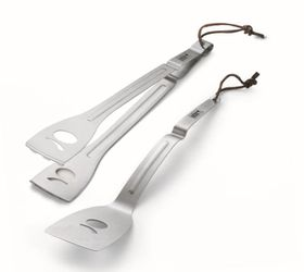 Weber - Q Tool Set Stainless Steel - 2 Piece Spatula and Tongs