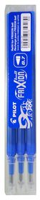 Pilot Frixion Ball/Clicker Erasable Pen Refills - 0.7mm Blue (3 Pack)