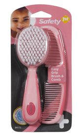 Safety 1st - Easy Grip Brush and Comb Set - Pink