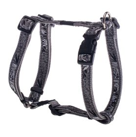Rogz - Fancy Dress 16mm Dog H-Harness - Silver Gecko