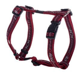 Rogz - Fancy Dress 16mm Dog H-Harness - Red Heart