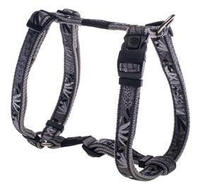 Rogz - Fancy Dress 20mm Dog H-Harness - Silver Gecko