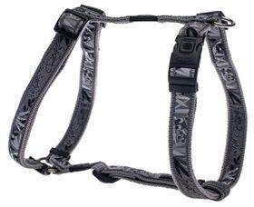 Rogz - Fancy Dress 25mm Dog H-Harness - Silver Gecko