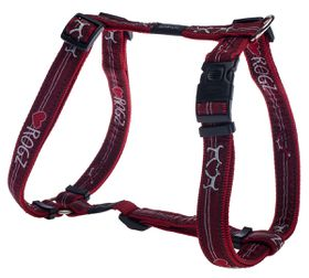 Rogz - Fancy Dress 25mm Dog H-Harness - Red Heart