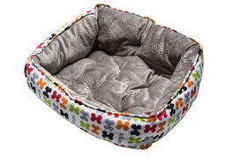 Rogz - Dog Bed 520mm x 380mm x 250mm - Multi Bones