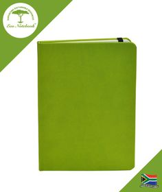 Eco Notebook Hard Cover A5 - Lime Green